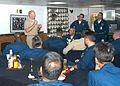 US Navy 030807-N-9860Y-003 Vice Adm. Robert F. Willard, Commander, Seventh Fleet, addresses members of the combined USS Blue Ridge- Commander, Seventh Fleet Chief Petty Officer's Mess.jpg