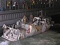 US Navy 051106-N-6708W-180 A Norwegian patrol craft prepares to moor in the well deck aboard the dock landing ship USS Gunston Hall (LSD 44).jpg