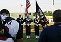 US Navy 060605-N-2908O-001 Navy Reservist assigned Navy Reserve Center Nashville serve as Honor Guard during a rendition of the National Anthem as part of festivities to kick off NAVCO's Navy Week Nashville.jpg