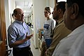US Navy 070627-N-3642E-488 Secretary of the Navy (SECNAV) The Honorable Dr. Donald C. Winter discusses issues of concern with members of Project Hope and Sailors from Military Sealift Command hospital ship USNS Comfort (T-AH 20.jpg