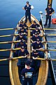 US Navy 090818-N-0167W-042 USS Constitution crewmember Boatswains Mate 2nd Class Garrett Renner guides a team of Navy chief selects in the port whaleboat of USS Constitution.jpg