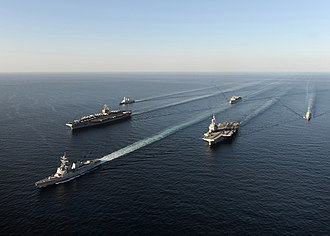 Carrier Strike Group 9 - U.S.-French carrier force underway in the Persian Gulf (10 December 2010)