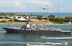 US Navy 110923-N-AC979-143 The guided-missile destroyer Pre-Commissioning Unit (PCU) Spruance (DDG 111) arrives at Naval Air Station Key West.jpg