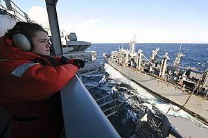 US Navy 120131-N-VA840-018 Sailors watch during a replenishment at sea.jpg