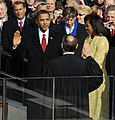 US President Barack Obama taking his Oath of Office - 2009Jan20 (A) (cropped2).jpg