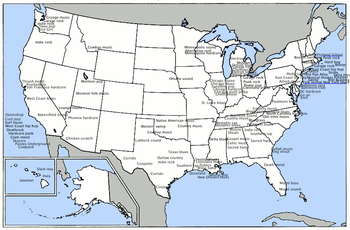 The United States is home to a wide array of regional styles and scenes.