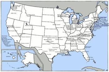 Stati America Del Nord Cartina.Musica Degli Stati Uniti D America Wikipedia