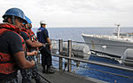 Underway replenishment at sea with Military Sealift Command fleet replenishment oiler USNS Pecos 121026-N-AQ172-075.jpg