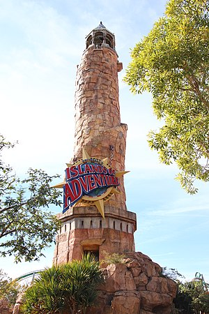 Islands of Adventure - The Pharos Lighthouse marks the park's entrance