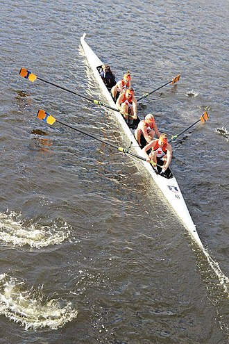 Illini Rowing - Image: University of Illinois VM4+ at HOCR Boston 2015