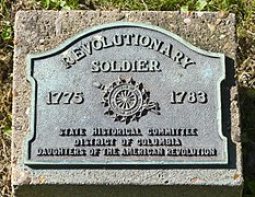 Unknown Revolutionary War soldier marker - Oak Hill Cemetery - 2013-09-04.jpg