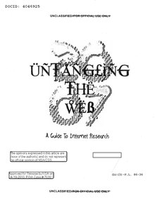 Index:Untangling the Web pdf - Wikisource, the free online