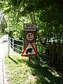 Upper Clatford - Beware Of Frogs - geograph.org.uk - 1409567.jpg