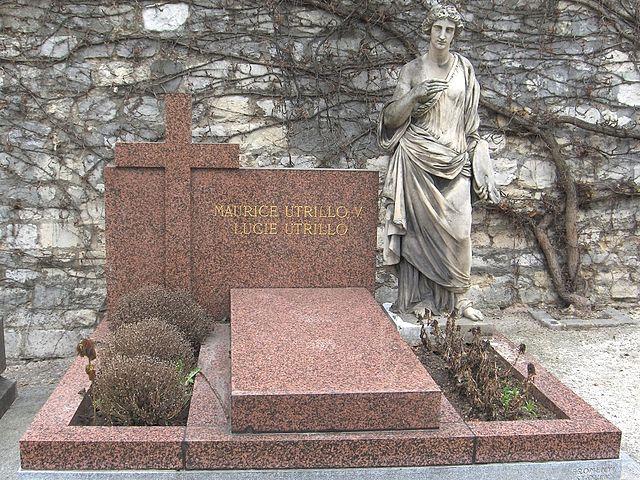 Надгробие на могиле Мориса Утрилло на монмартрском кладбище Сен-Венсан