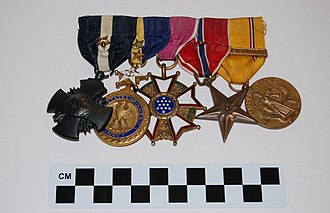 Bernard L. Austin - Image: VADM Bernard L. Austin medals