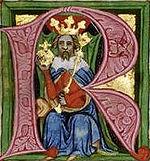 Václav II. na miniatuře ve Zbraslavské kronice