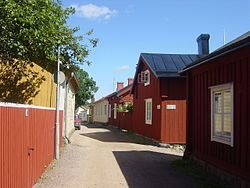 An alley in Ekenäs