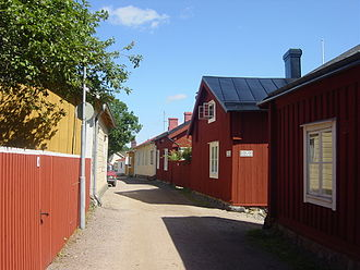 Ekenäs, Finland - An alley in Ekenäs