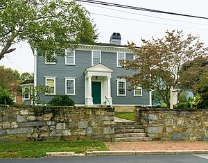 James Mitchell Varnum - Varnum's house at 57 Peirce Street in East Greenwich, Rhode Island