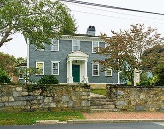 James Mitchell Varnum - Varnum's house at 57 Peirce Street in East Greenwich, Rhode Island