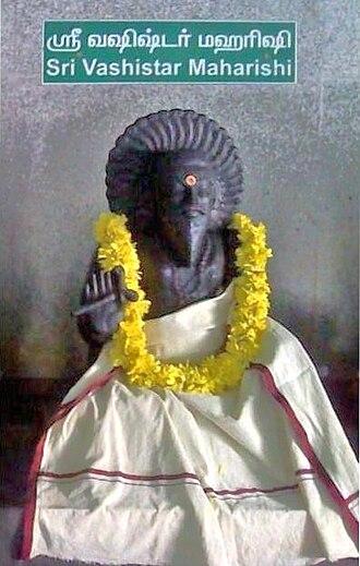 Vasistha - A Vashistha statue in granite stone.