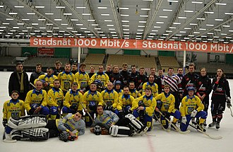 ABB Arena - Ukraine national bandy team