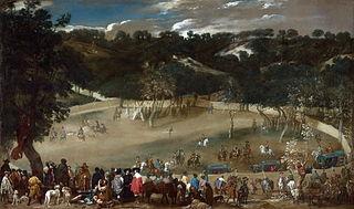Philip IV hunting Wild Boar (La Tela Real)