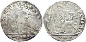 Coinage of the Republic of Venice - Silver ducato of Giovanni II Cornaro.