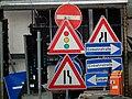Verkehrsschilder mit Gebrauchsspuren.JPG
