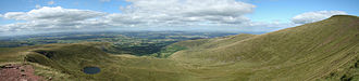 South Wales - View north into Cwm Llwch from Corn Du, in the Brecon Beacons