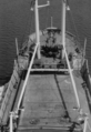 View from the mast to the bow of motor vessel Elfriede - 1956.png