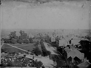 Forbury Gardens - View from the tower of St Laurence's Church, c. 1875 by Henry Taunt