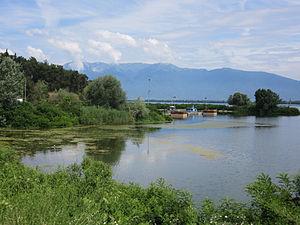 Lake Kerkini - A view to Lake Kerkini and Belasica from Lake Kerkini Dam