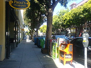 Hayes Valley, San Francisco - Looking west along Hayes Street from Octavia Boulevard.