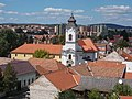 View to the Servite Church and Monastery from Castle of Eger, 2016 Hungary.jpg