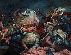 Vilhelm Lundstrøm: Kopi efter Rubens: Konsul Decius Mus' død (Prado, Madrid)