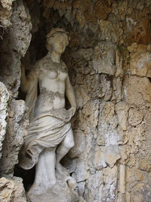 Grotto - Sculpture in a grotto setting, Villa Torrigiani, Lucca