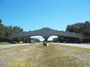 The Villages, Florida - Golf cart bridge over US 27/US 441