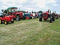 Vintage tractors on parade at Boyes Lane, Keyingham - geograph.org.uk - 187672.jpg