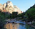 Virgin River Morning, Zion 5-14 (16324239286).jpg