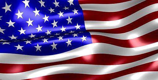 Visual of USA Flag stars and stripes FJM88NL via Wikimedia Commons