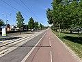 Voie cyclable Ligne 5 Tramway Avenue Division Leclerc Sarcelles 1.jpg