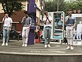 Voisper busking on Arisu Stage in Sinchon 4.jpg