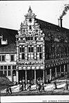 voormalige kapgevel van het meisjesweeshuis (reproductie uit o.dapper historische beschrijving van amsterdam 1663) - amsterdam - 20014010 - rce
