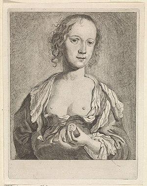Vrouw met blote borsten en een munt, RP-P-OB-23.721.jpg