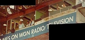 Jack Brickhouse - Cubs broadcasters, June 11, 1981 – Vince Lloyd, Lou Boudreau, Milo Hamilton, Jack Brickhouse