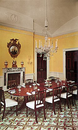 The Family Dining Room During Administration Of John F Kennedy