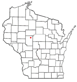 Location of Curtiss, Wisconsin