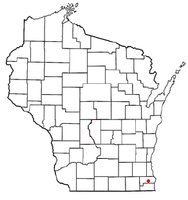 Location of Yorkville, Wisconsin