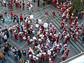 WSU Cougar Band in Westlake Plaza, Seattle (1593045855).jpg